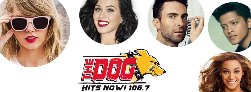106.7 The Dog.  EKU and Richmond's hit music station.